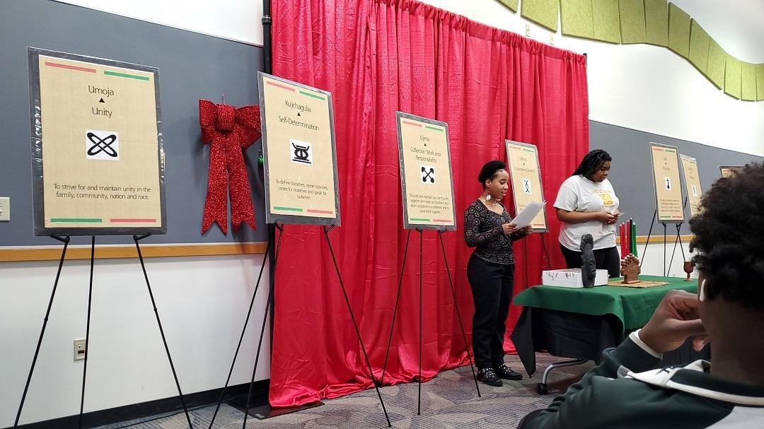 ASHC and Club members of Alliance for Black Thought helped celebrate Kwanzaa 2019