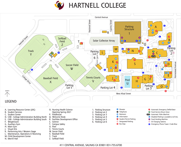 Hartnell College Campus Map
