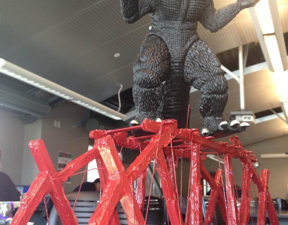 Godzilla vs. bridge
