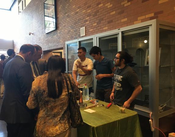 Physics Club Demo to the Mayor Gunter of Salinas and Candidate Jimmy Panetta