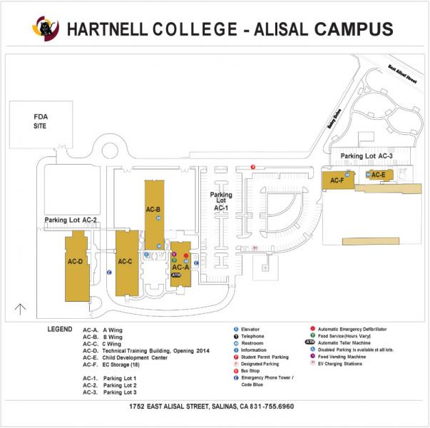 Campus Map of Hartnell College Alisal Campus