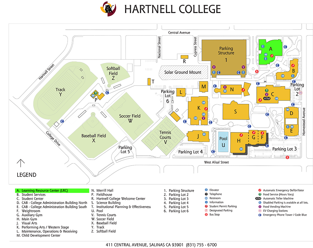 Campus Map with Building A highlighted