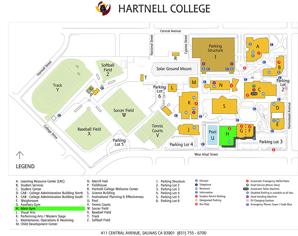 Campus Map - Main Gym