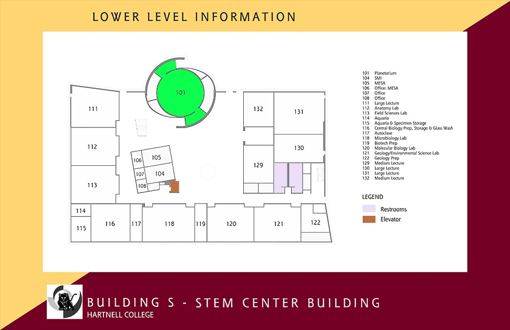 Map of S Building