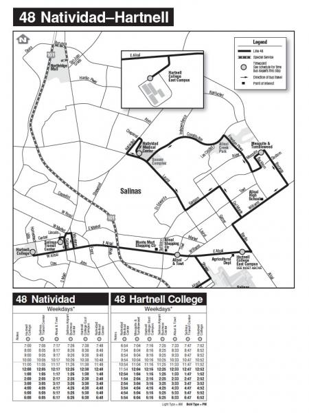 Monterey Salinas Transit #48 Bus Route and Schedule