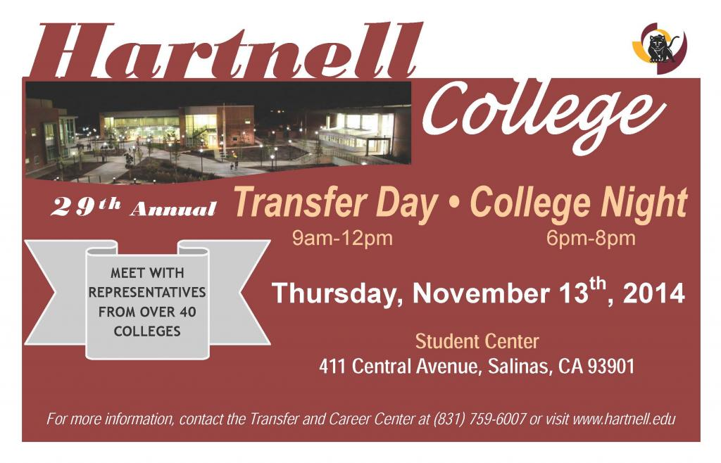 Transfer Day College Night