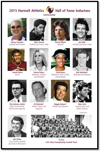Inductees for the Third Annual Athletics Hall of Fame Class of 2015