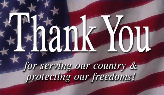 Veteran's Services thank you