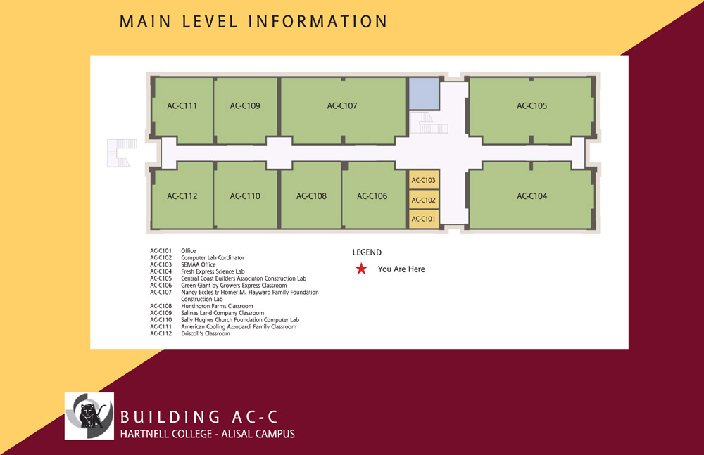 Campus Map of Hartnell College Alisal Campus Building C