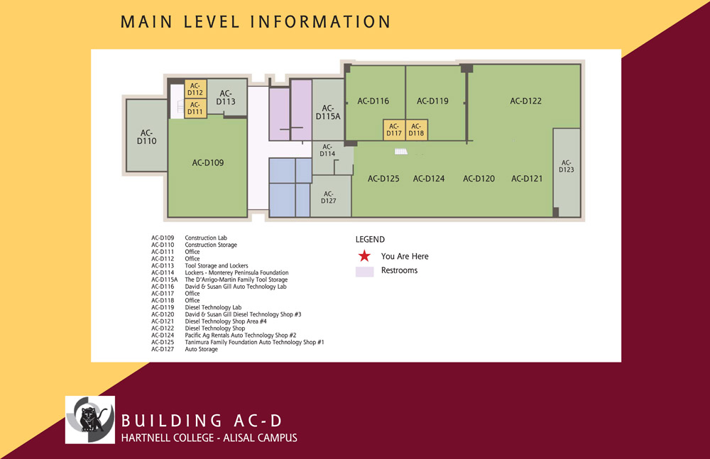 Campus Map of Hartnell College Alisal Campus Building D