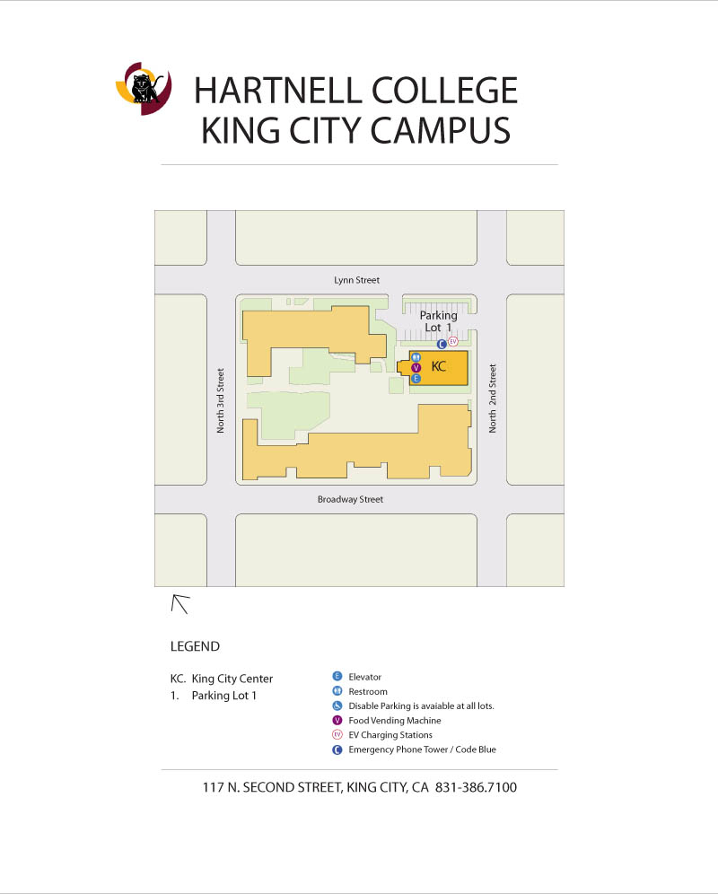 Print King City Education Center Campus map