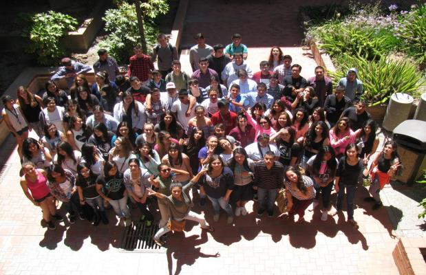 Large group of Trio students at Hartnell College