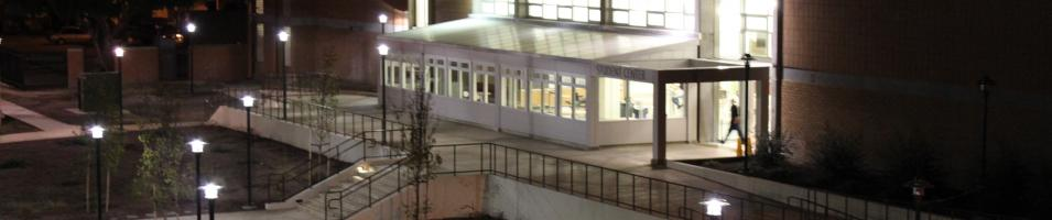 Student Center at night