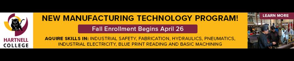 Manufacturing Program - Fall Enrollment April 26th, acquire new skills!