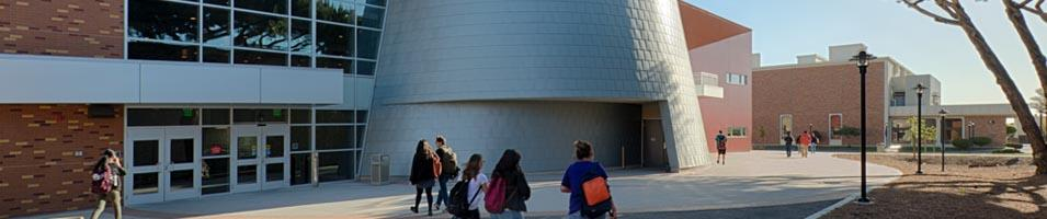 Outside view of the New Hartnell College Planetarium and Science building