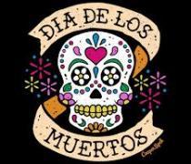 Sugar Skull with Dia De los Muertos banner