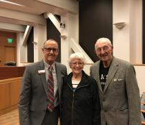 Dr. Lewallen with Hartnell Alumnus, Joyce Gordon and husband, Harold