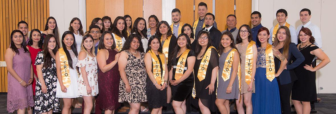 Students enrolled in the TRIO program at Hartnell College