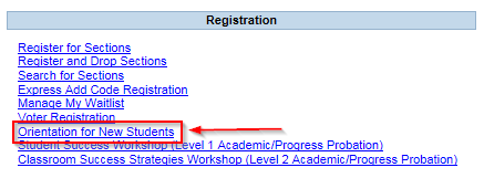 Screenshot of Registration Page in PAWS