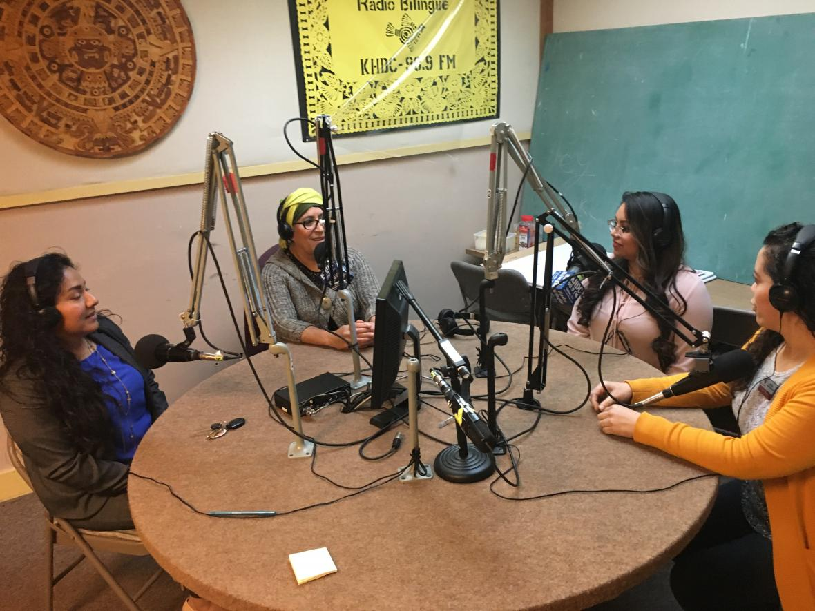 Mi CASA Staff and Dreamer at Radio Bilingue interview
