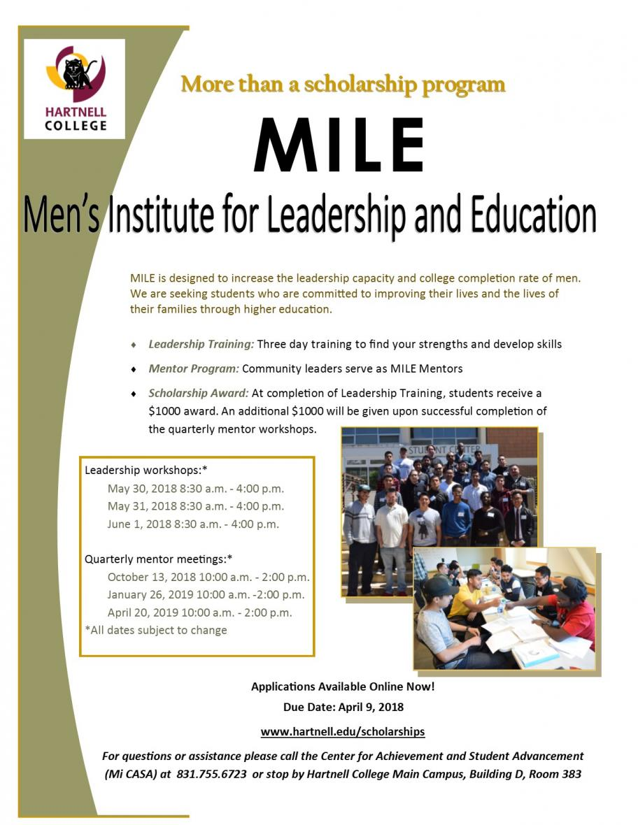 MILE Scholarship Flyer