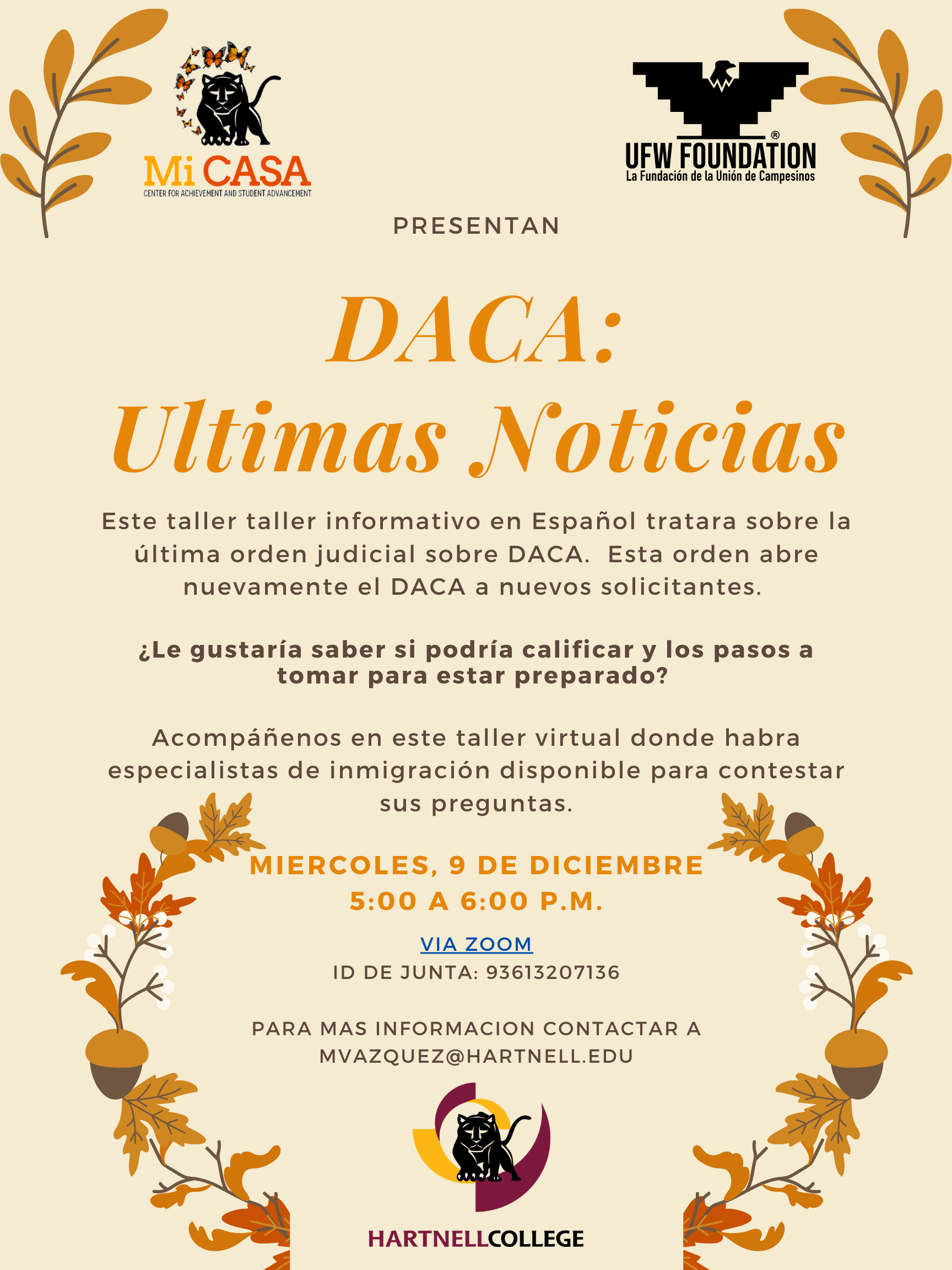 Flyer of DACA information meeting