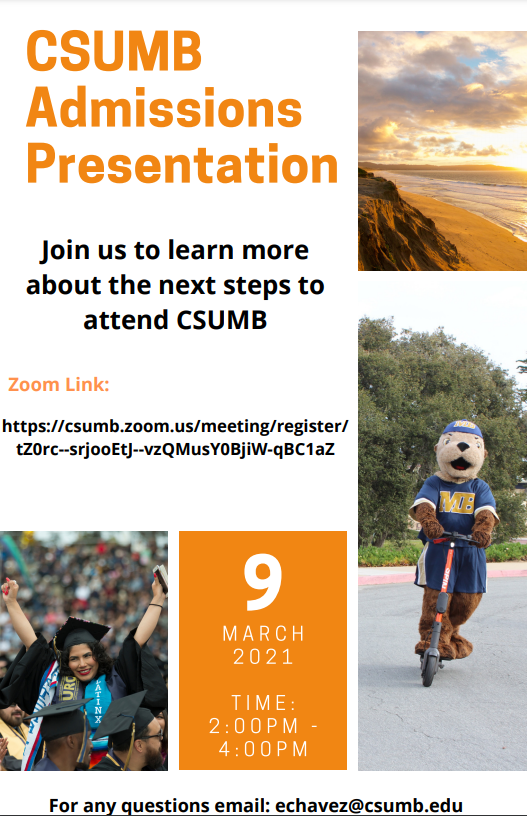 CSUMB What's Next? Webinar flyer